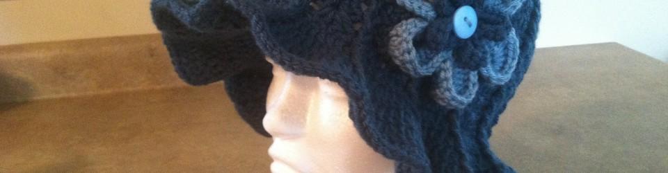 Ridge Hat With Brim Pattern & Flower by Stitch of Love