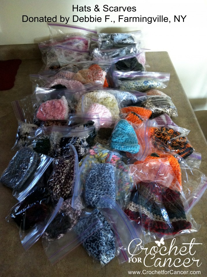 Caps & Scarves Donated by Debbie F., Farmingville, NY