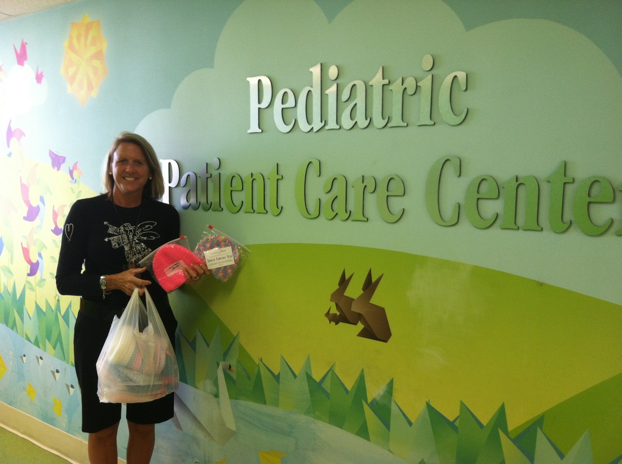 Donated caps to Memorial Children's Hospital in South Bend, Indiana