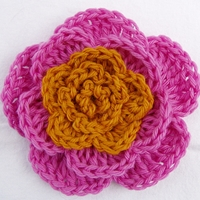 5 Petal Flower by  SkaMama's Bone Hook